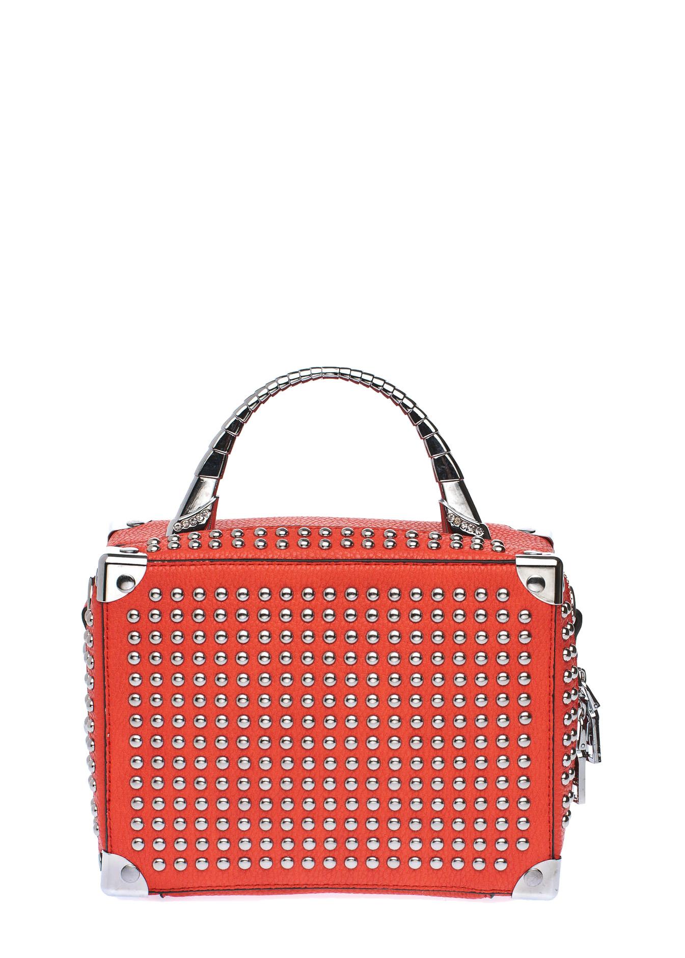 Izzy studded box clutch bag, κόκκινο τσάντες