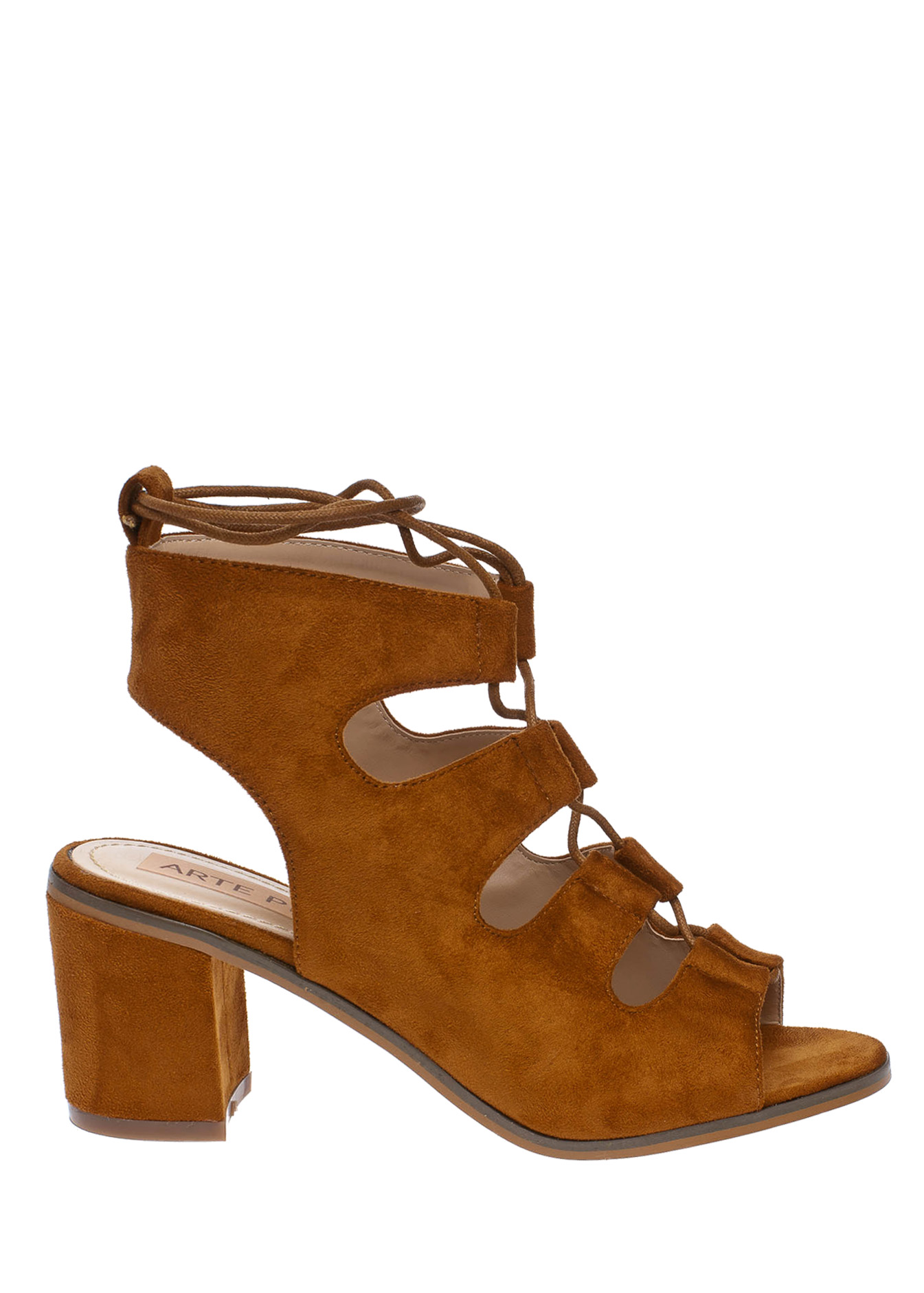 Aria suede lace up πέδιλο, ταμπά loafers