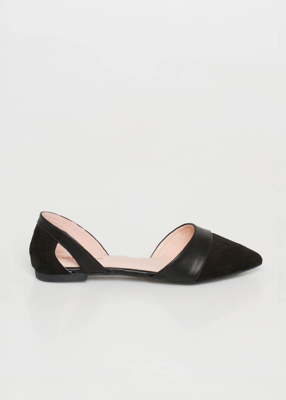 Alice pointed flat shoe, μαύρο γόβες