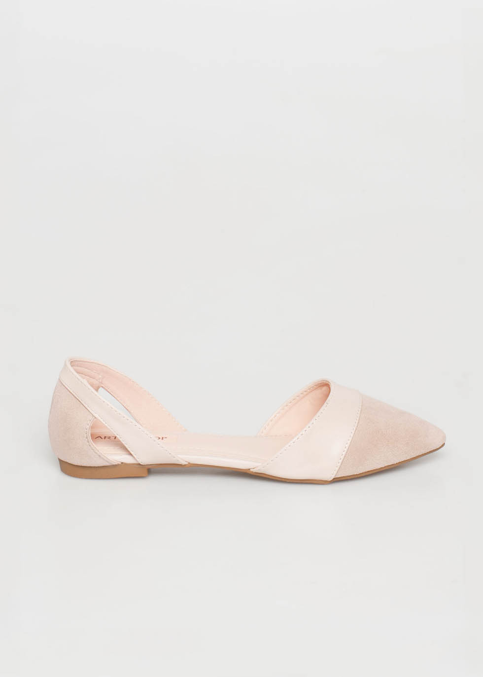 Alice pointed flat shoe, μπεζ γόβες