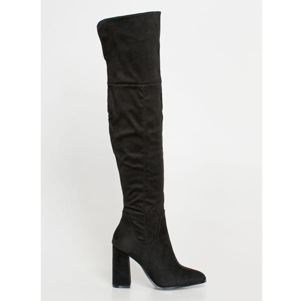 Renee over the knee boot μαύρο