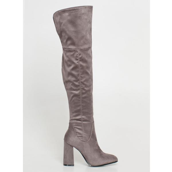 Renee over the knee boot γκρι