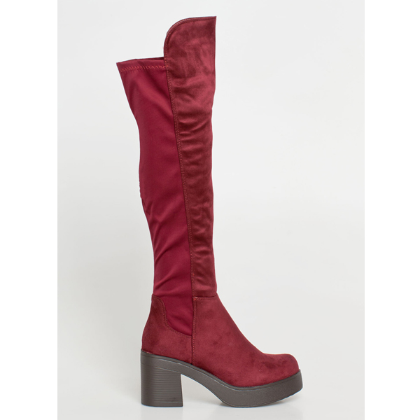 Silla over the knee boot μπορντό