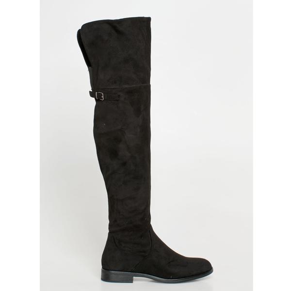 Vero over the knee boot μαύρο
