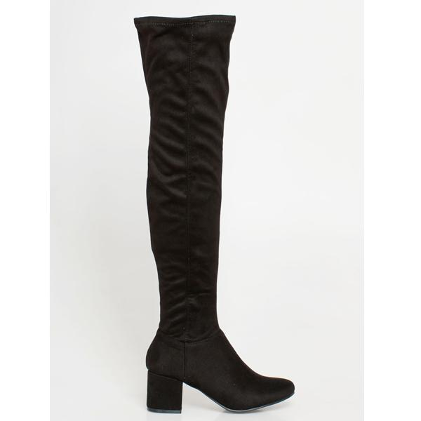 Kloe over the knee boot μαύρο