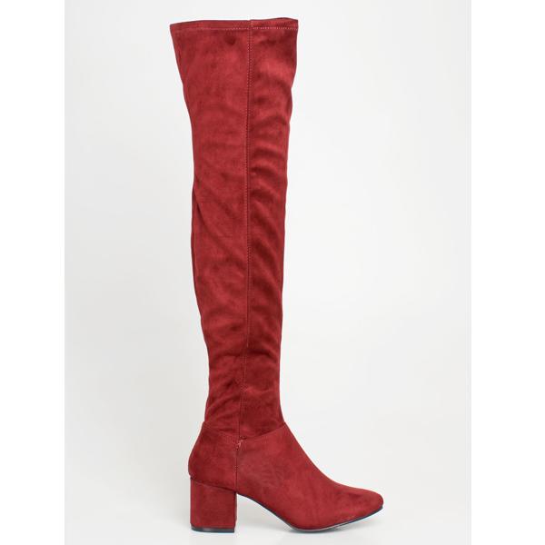 Kloe over the knee boot μπορντό
