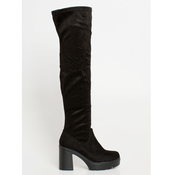 Madox over the knee boot μαύρο