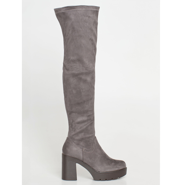 Madox over the knee boot γκρι