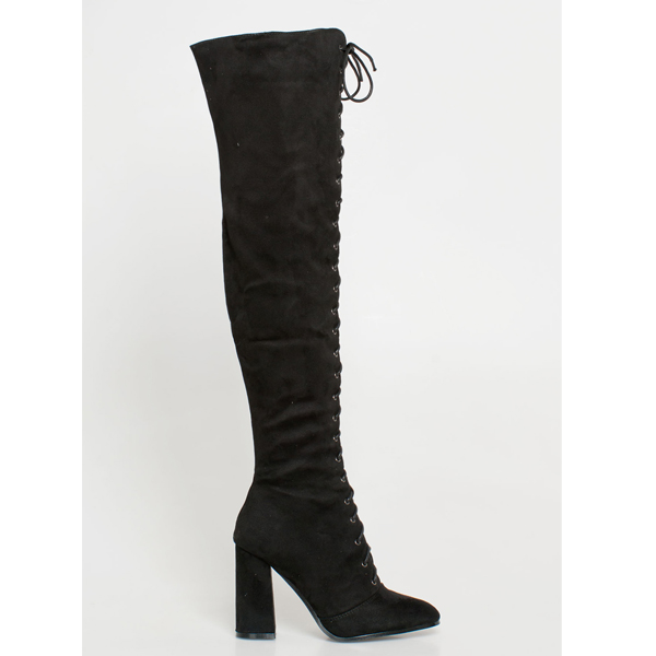 Kendra over the knee boot μαύρο