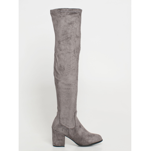Vilma over the knee boot γκρι