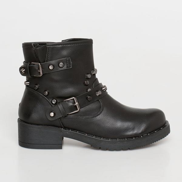 Dame studded ankle boot μαύρο