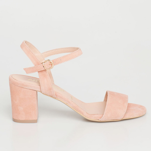 Mira δερμάτινο barely there sandal baby pink