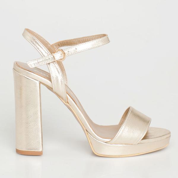 Bette δερμάτινο barely there sandal χρυσό