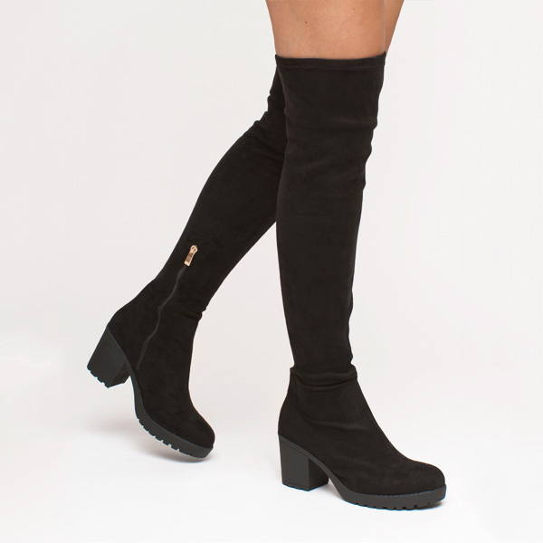 Sutton over the knee boot μαύρο