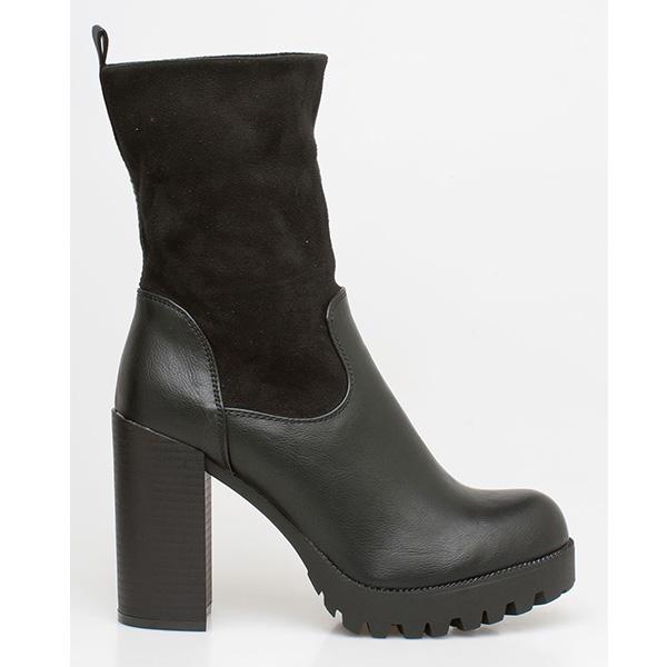 Carol block heel boot μαύρο