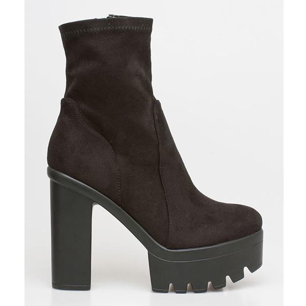 Willa suede boot μαύρο