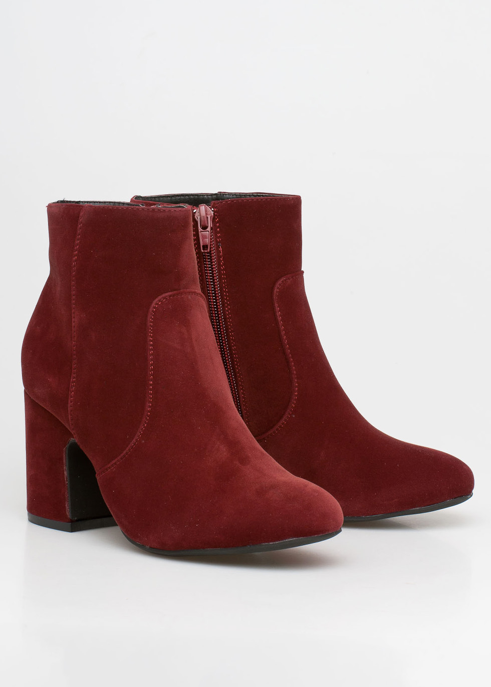 Kimmie velvet boot, μπορντό