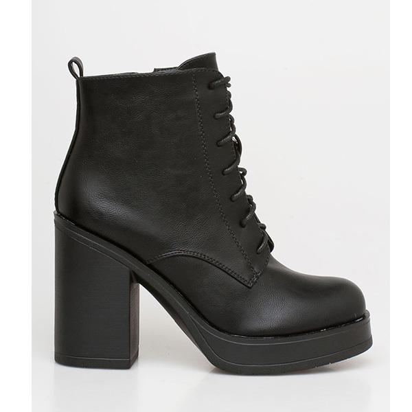 Regan block heel boot μαύρο
