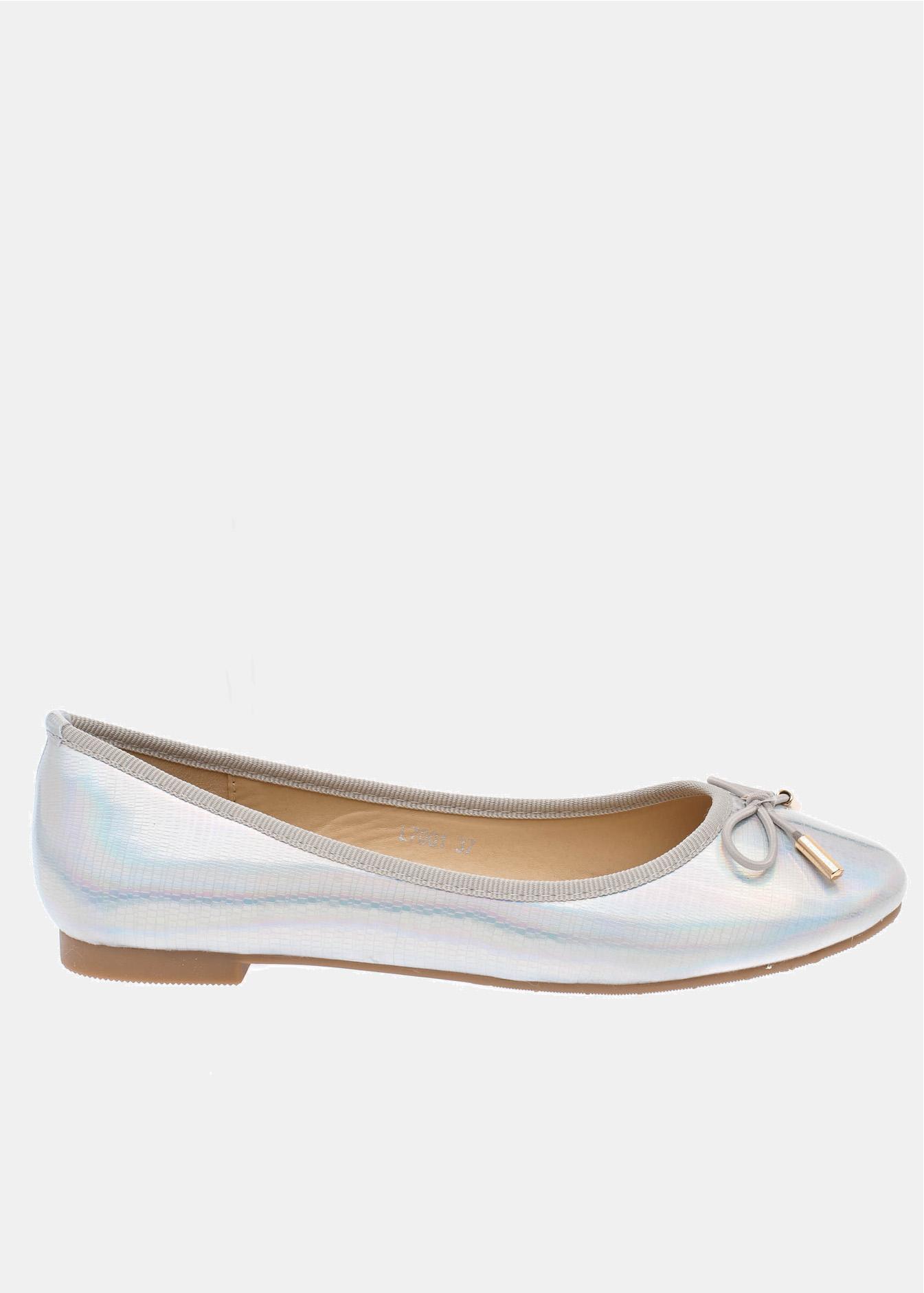 Julia μπαλαρίνα, ασημί loafers