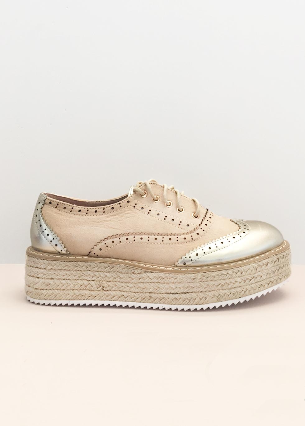 Alexa metallic espadrilles, μπεζ παπούτσια