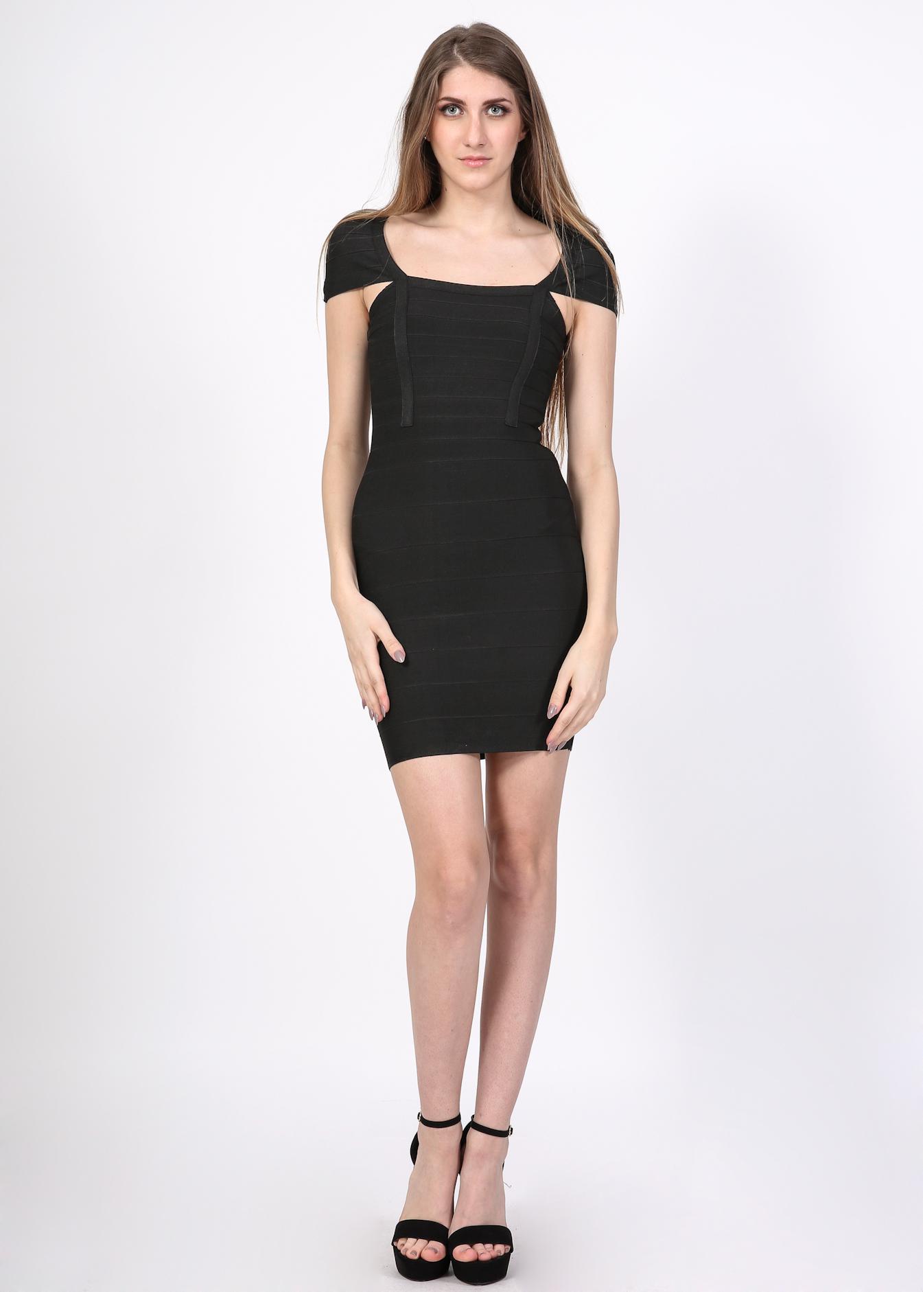 Kim bandage bodycon φόρεμα  μαύρο