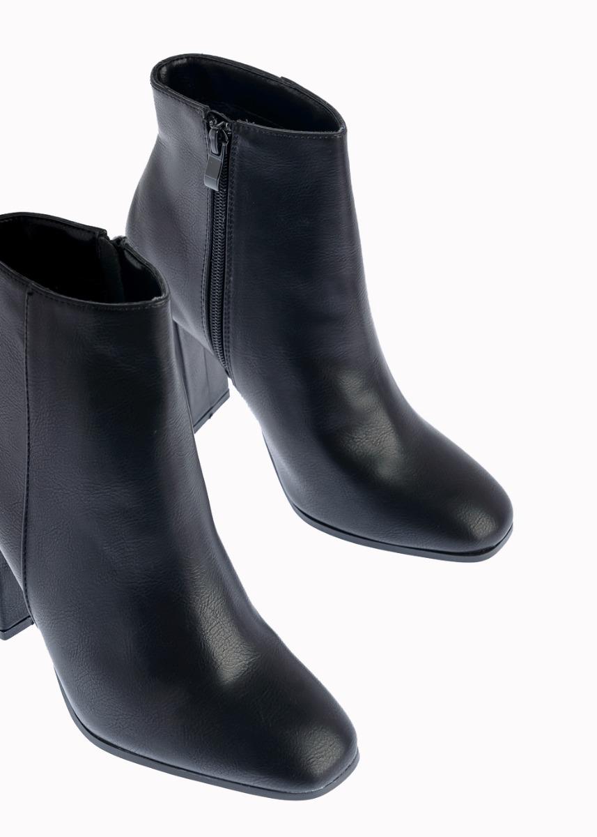 Tilda Leather Like Ψηλοτάκουνο Μποτάκι, Μαύρο
