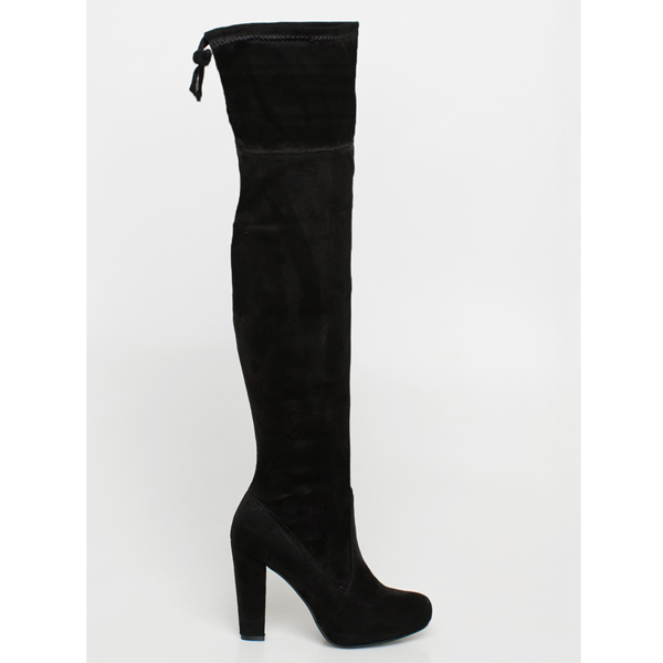 Kandy over the knee boot μαύρο