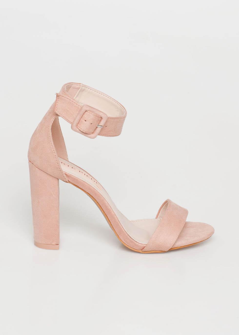 Cora suede πέδιλο, baby pink παπούτσια