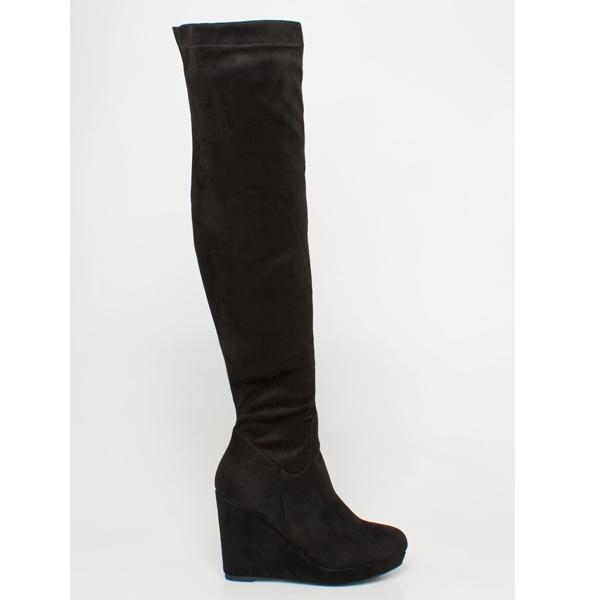 Debora over the knee boot μαύρο