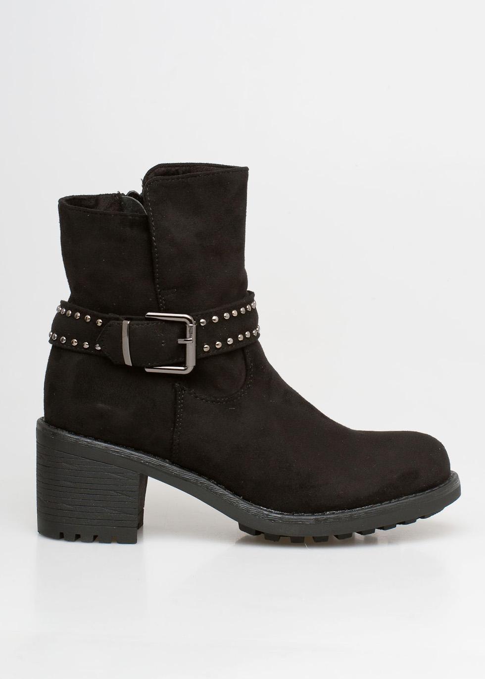 Keira ankle block boot μαύρο