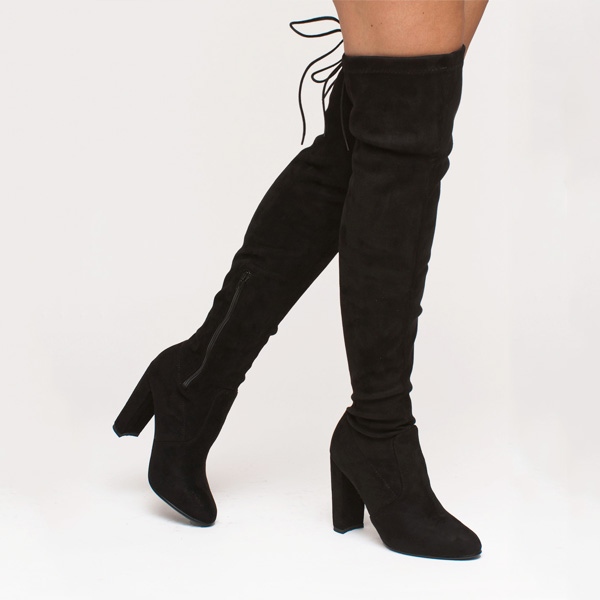 Alyssa over the knee boot μαύρο