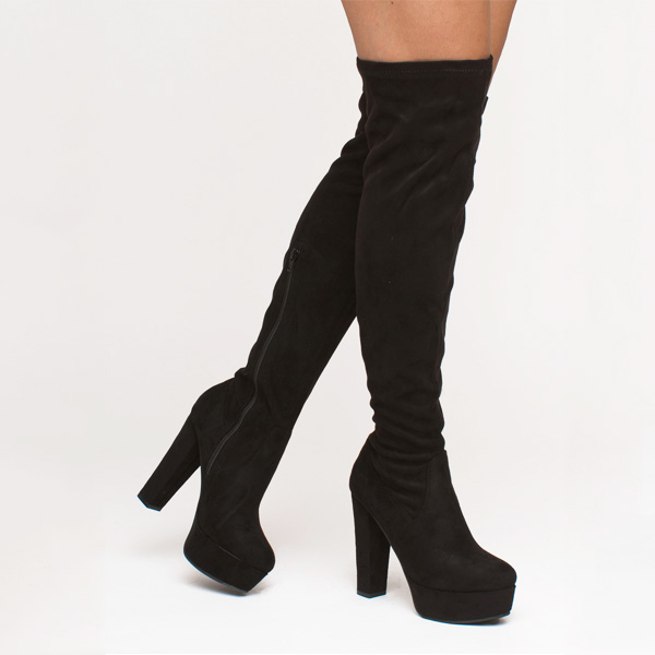 Kaya over the knee boot μαύρο