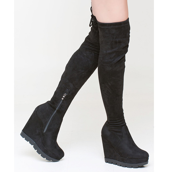 Tammi over the knee boot μαύρο