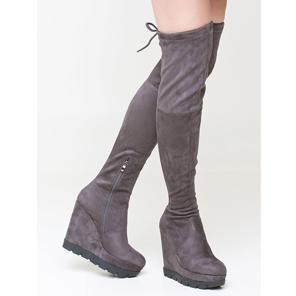 Tammi over the knee boot γκρι