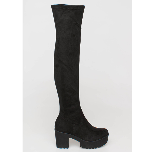 Gloria over the knee boot μαύρο