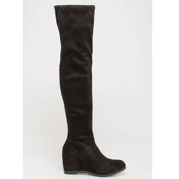 Ava over the knee boot μαύρο