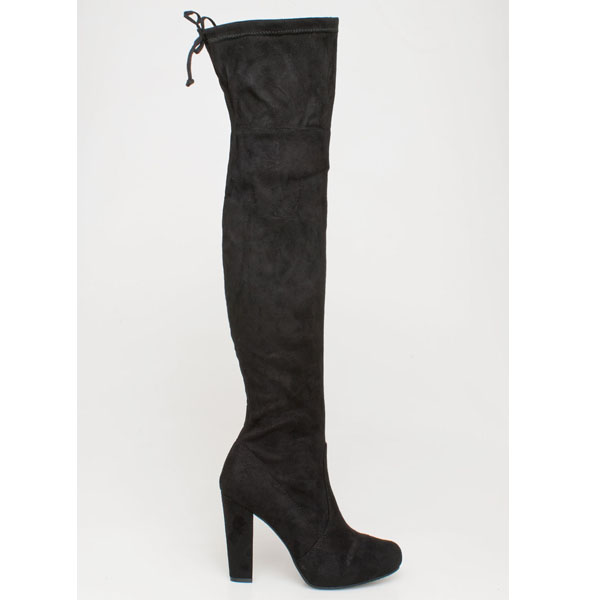 Krista over the knee boot μαύρο