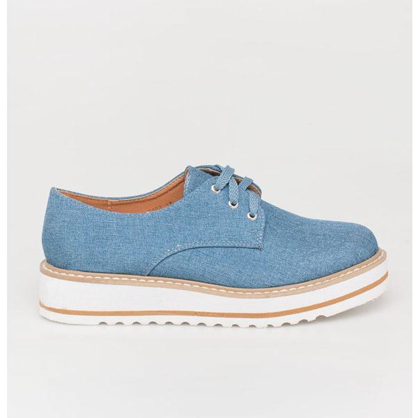 Faye oxford flatform, jean παπούτσια