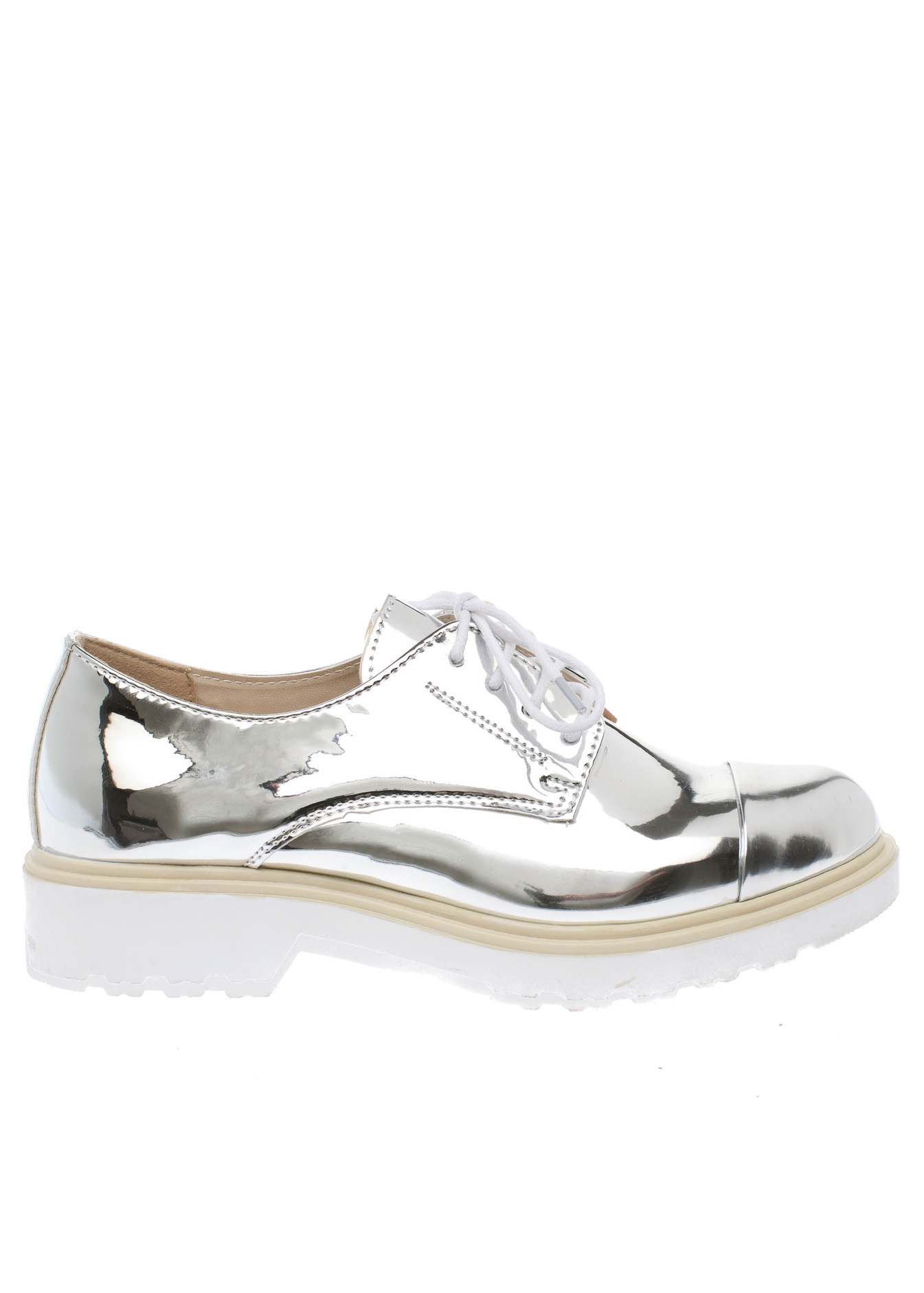 Holly metallic college shoe ασημί