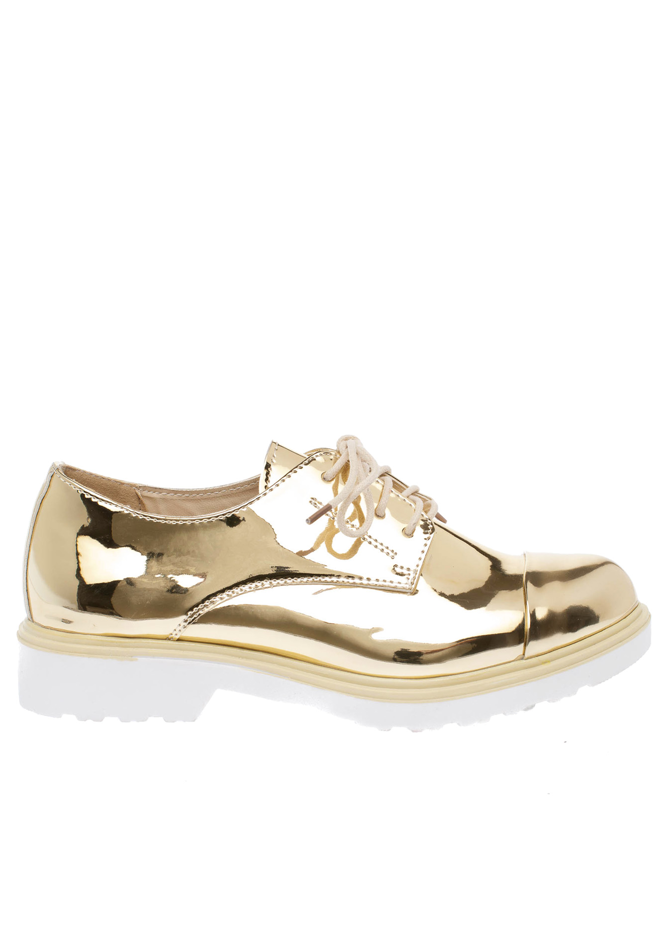 Holly metallic college shoe χρυσό