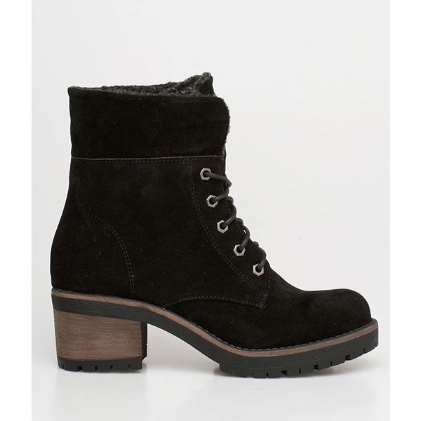 Dara ankle wool boot μαύρο