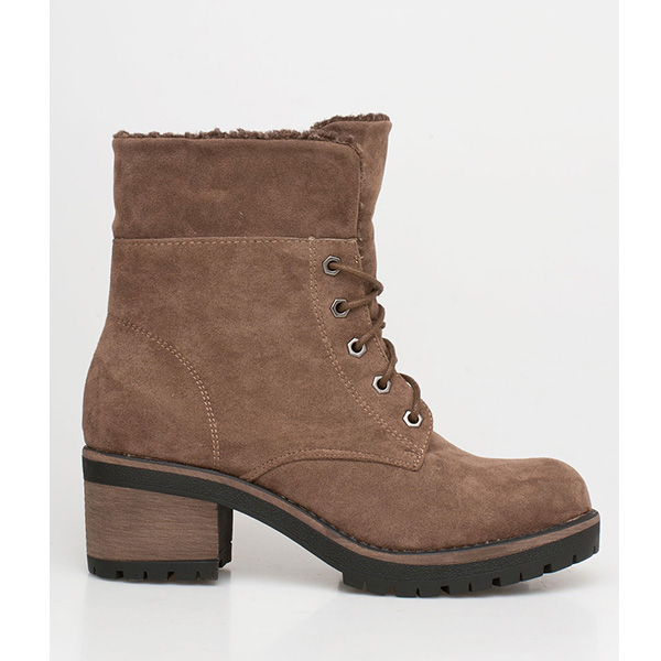 Dara ankle wool boot πούρου