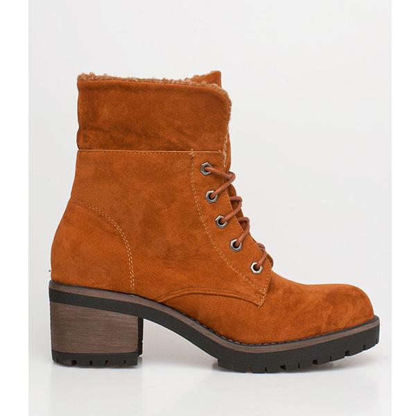 Dara ankle wool boot καμηλό