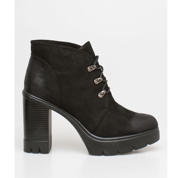 Abby block heel boot μαύρο