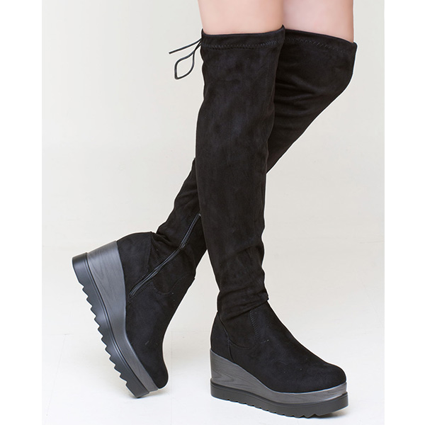 Betly over the knee boot μαύρο