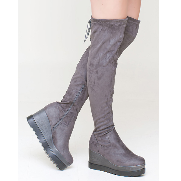 Betly over the knee boot γκρι