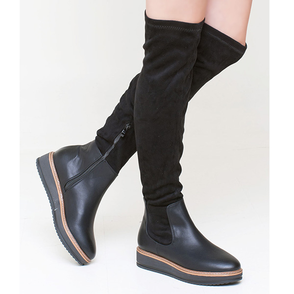 Ada over the knee boot μαύρο