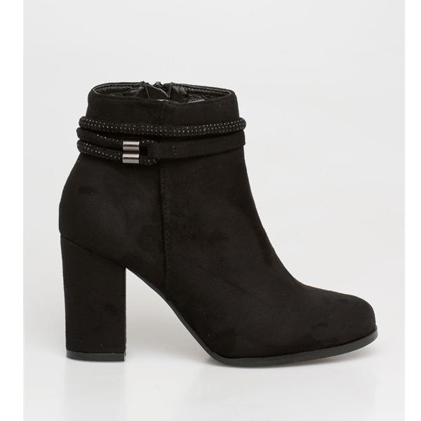 Sugar strassed boot μαύρο