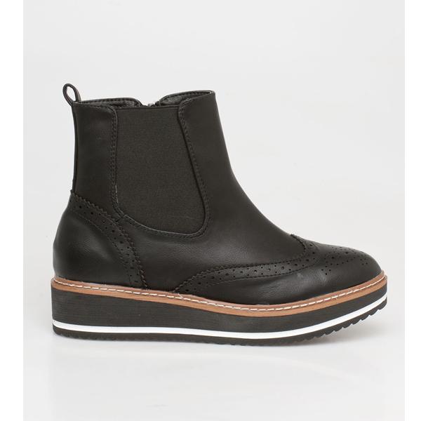 Miley oxford boot μαύρο