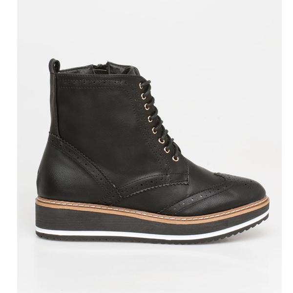 Sheryl oxford boot μαύρο